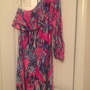 Lilly Pulitzer Dresses - Lilly Pulitzer Silk One Shoulder Dress